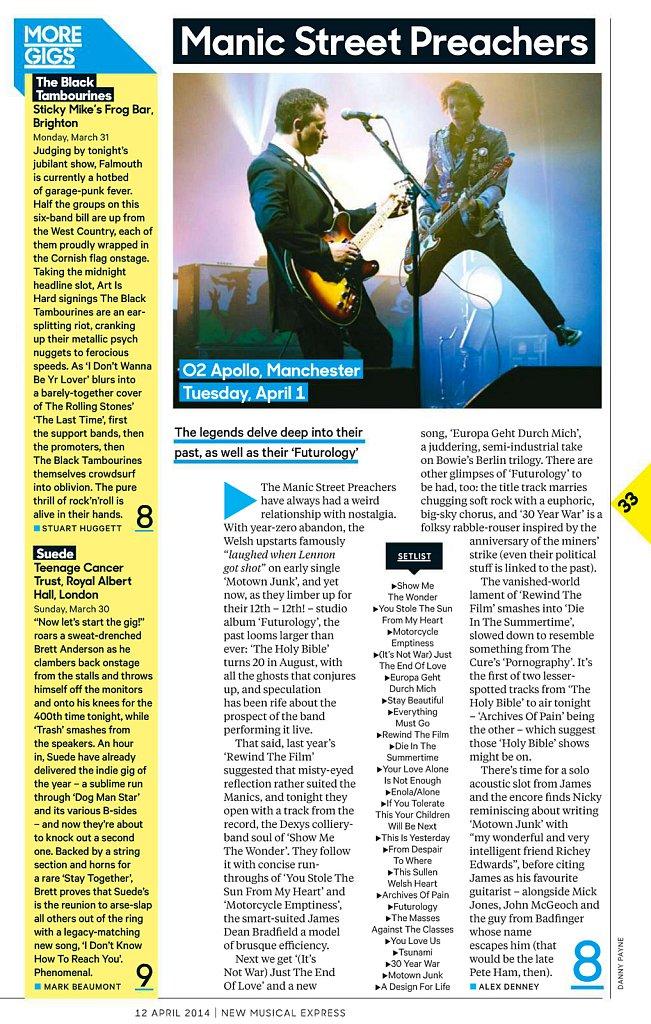 Manic Street Preachers // NME