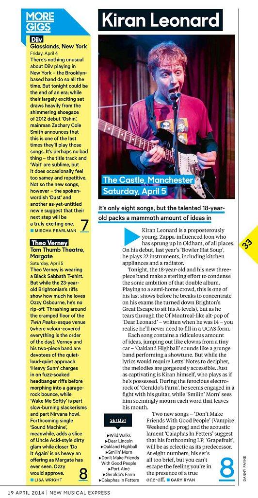 Kiran Leonard // NME