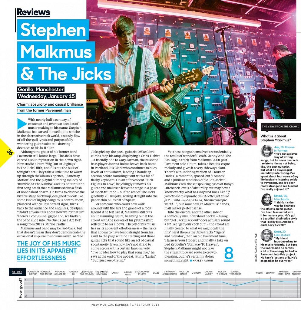 Stephen Malkmus // NME