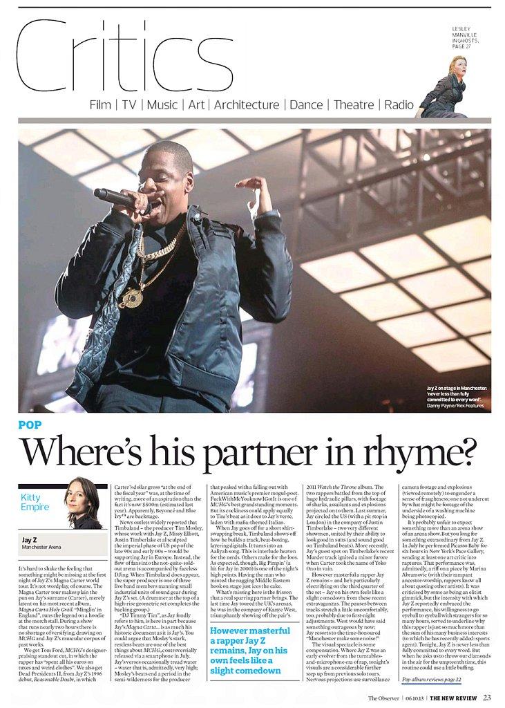 Jay-Z // The Observer