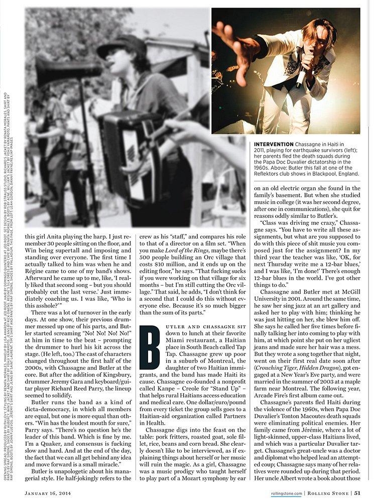 Arcade Fire // Rolling Stone