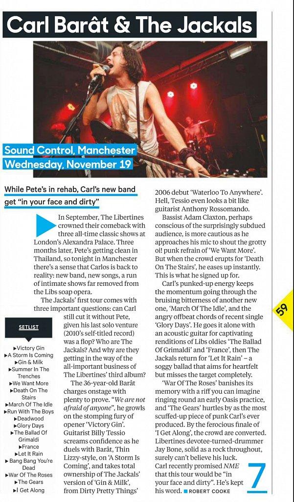 Carl Barât & The Jackals // NME