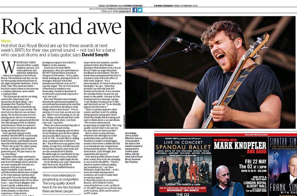 Royal Blood // London Evening Standard