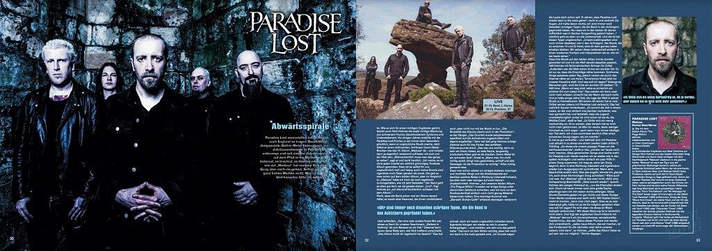 Paradise Lost // Tracks Magazine (Germany)